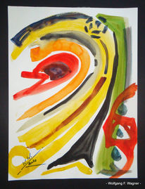 Malerei, Abstrakt, Mai, Teil