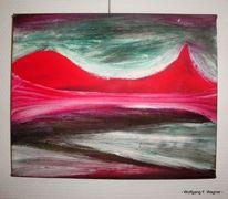 Öl auf karton, Landschaften der fantasie, Angefangen 1985, Malerei