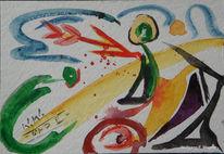 Malerei, Abstrakt, März, Pfeil