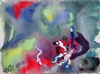 Entstehung, Leben, Urmeere, Temperamalerei