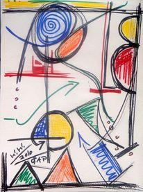 Skizze, Lust am komponieren, Farben, Abstrakt