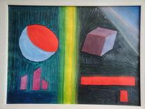 Ölmalerei, Schizophrenie optisch dazustellen, 1974, Fotografie