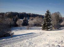 Schneelandschaft, Oberbayern, Fotografie, Sonnig