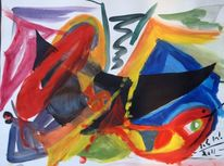 Farben, Ende, August, Malerei