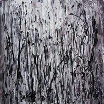 Schwarz weiß, Regen, Abstrakt, Steg