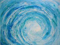 Welle, Abstrakt, Blau, Wirbel