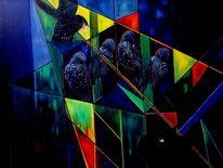 Tiere vögel stare, Malerei