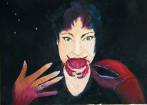 Portrait, Frau, Krebs, Malerei