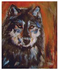 Tier, Wolf, Malerei, Tiere