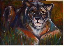 Löwe, Macht, Geld, Malerei
