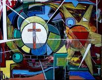Kreuz, Kreuzigung, Jesus, Malerei
