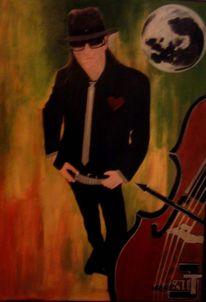 Udo lindenberg cello, Malerei, Figural, Cello