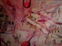 Zeichnung, Pink, Buntstiftzeichnung, Phantasy explosion