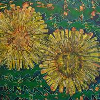 Blumen, Löwenzahn, Gras, Mann