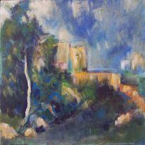 Cezanne nachempfunden, Malerei