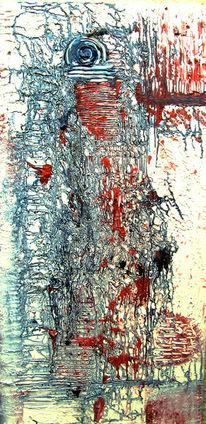 Weiß, Rot, Blau, Malerei