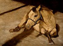 Tiere, Klassisch, Ruhend, Acrylmalerei