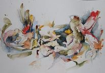 Aquarellmalerei, Tiefsee, Aquarell