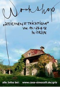 Italien, Umbrien, Casa simoncelli, Zeichnen