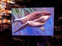 Fisch, Hai, Acrylmalerei, Malerei