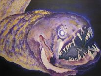 Acrylmalerei, Fisch, Gegenständlich, Tiere