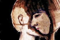 Zeichnungen, Portrait, Depression