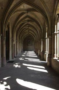 Architektur, Perspektive, Kreuzgang, Dom