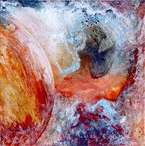 Abstrakt, Bunt, Orbit, Ölmalerei