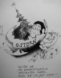 Woche, Osterurlaub, Frohe ostern, Karikatur