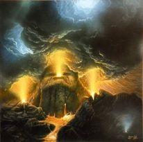 Gemälde, Art and mountain, Feuer, Berühmte gemälde
