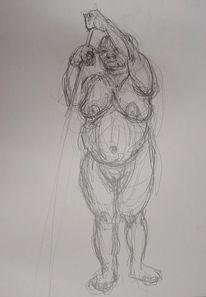 Zeichnung, Skizze, Portrait, Figural