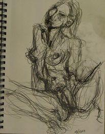 Selbstportrait, Yoni, Bleistiftzeichnung, Zeichnen