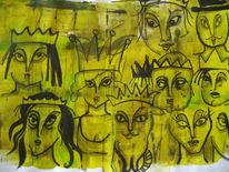 Augen, Grüngelb, Menschen, Tinte