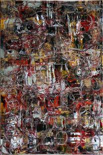 Struktur, Spachtel, Abstrakt, Acrylmalerei