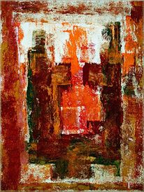 Gestaltung, Abstrakt, Rot, Gold