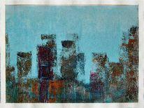 Spachtel, Acrylmalerei, Farben, Modern