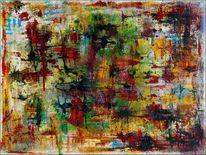 Acrylmalerei, Farben, Struktur, Feder