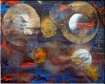 Spachtel, Malerei, Quark, Abstrakt