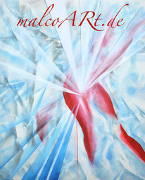 Akt, Blau, Rot, Surreal
