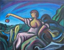 Allegorie, Edentrauma, Acrylmalerei, Malerei
