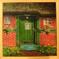 Acrylmalerei, Haus, Worpswede, Malerei