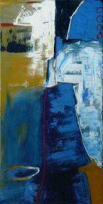 Malerei, Abstrakt, Küste