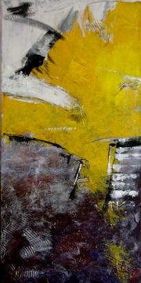 Malerei, Abstrakt, Licht, Treppe