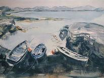 Irland, Meer, Connemara, Boot