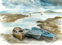 Ruderboot, Irisch, Malerei