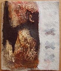 Tuschmalerei, Karte, Wachs, Marmormehl