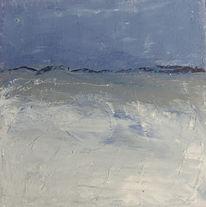 Horizont, Blau, Struktur, Spachteltechnik