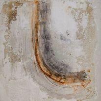 Abstrakter expressionismus, Beize, Rotband, Marmormehl