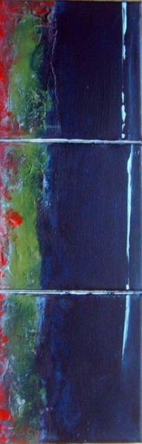 Airbrush, Acrylmalerei, Struktur, Blau