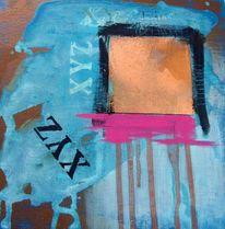 Pink, Kupferspray, Schwarz, Buchstaben